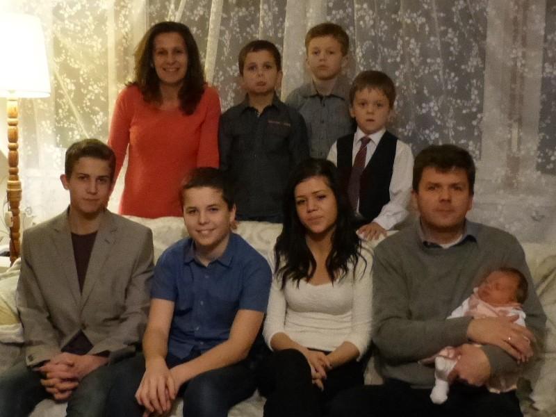 Kubik Zoltán családja